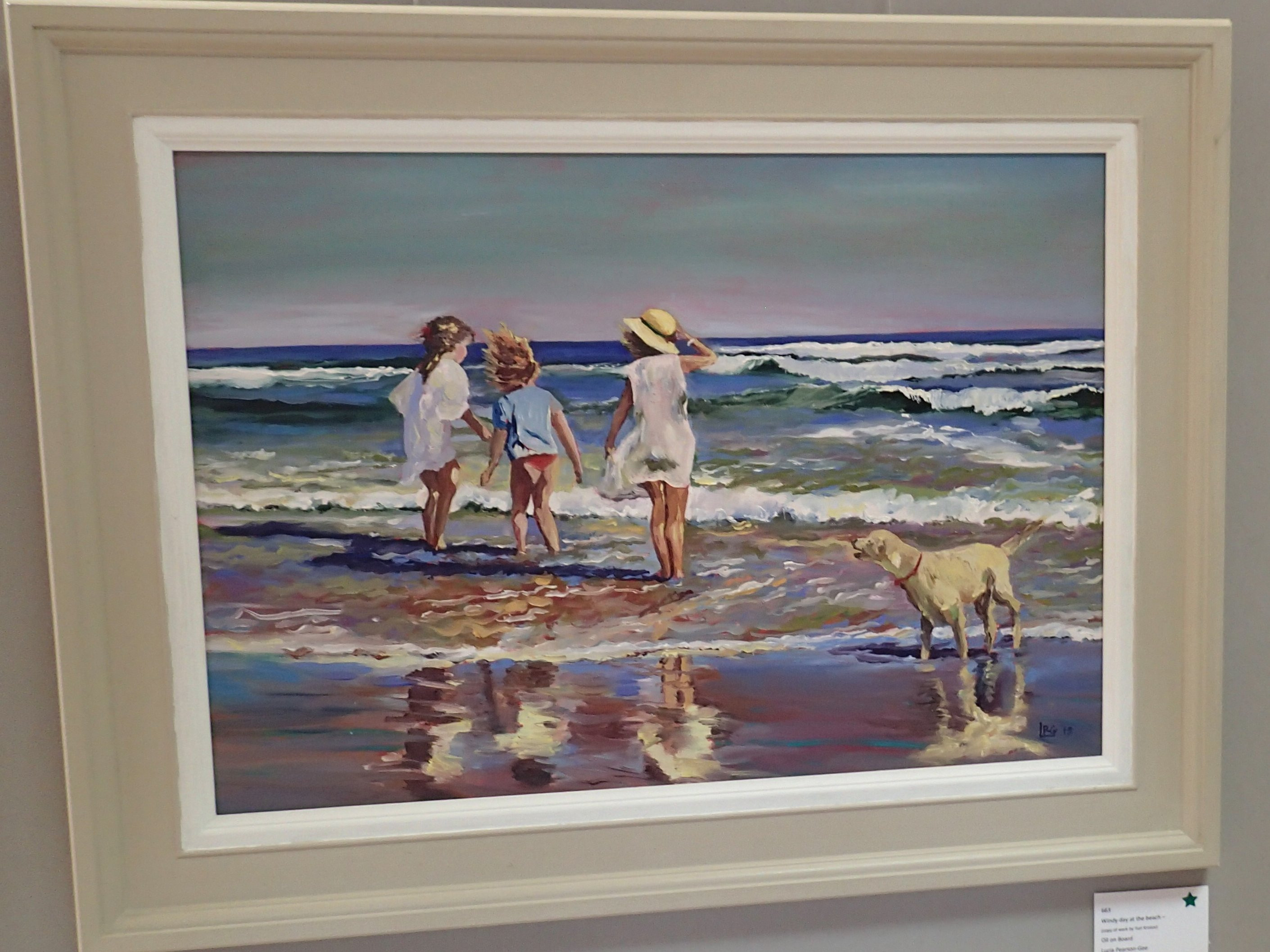 Windy Day at the Beach (Copy of work by Yuri Krotov) by Lucia PearsonG